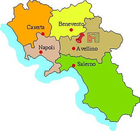 Cartina Campania