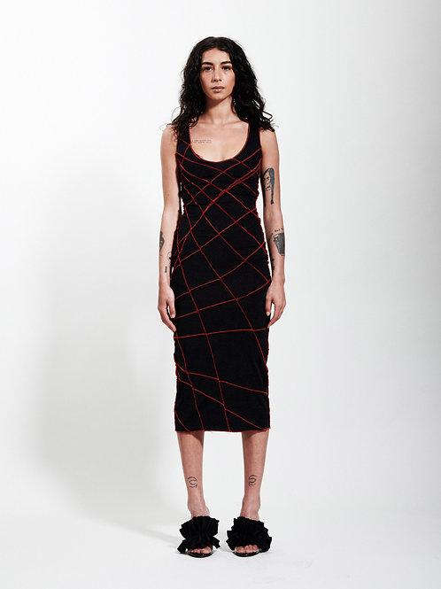 La robe débardeur surpiquée 'ICONIC' by XULY.Bët