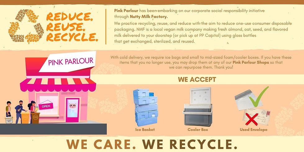 horizontal reduce. reuse. recycle. NMF (