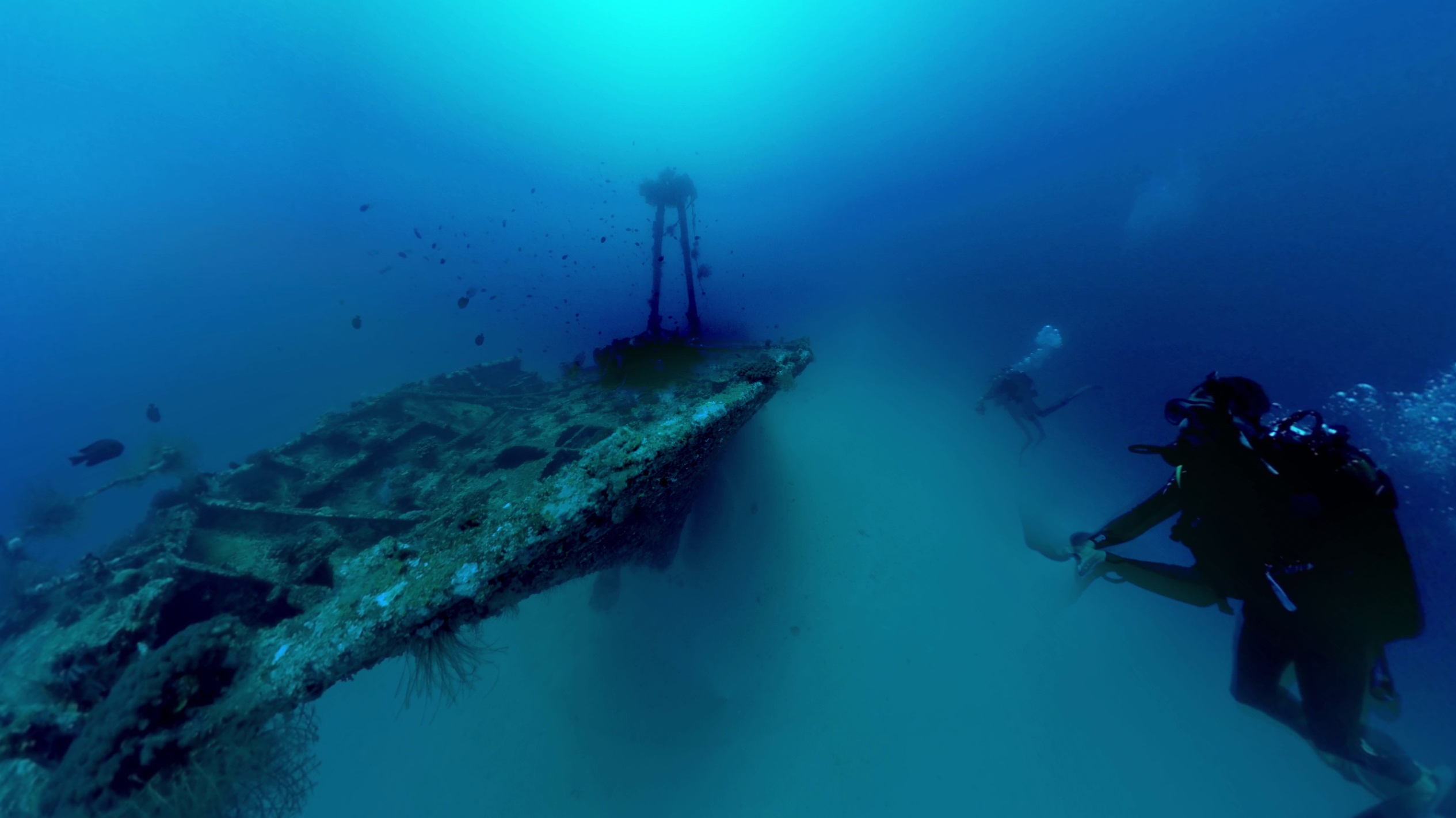 360 shooting of Djabeda wreck