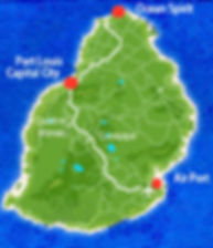 Ocean Spirit location Mauritius Map