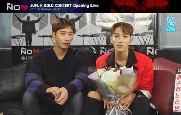 2017년 1월 15일 V LIVE 'JUN. K SOLO CONCERT Mr. NO♡' Opening Live