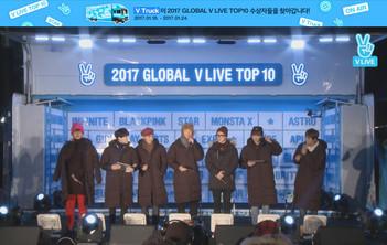2017년 1월 24일 V LIVE 2017 GLOBAL V LIVE TOP10 - BTS