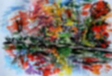 Autumn in New Jersey. Осень в Нью-Джерси. Акварель, 36х48 см, 2015