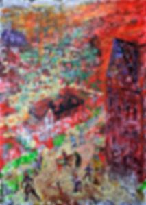 Житие Дмитрия Угличского. 2. Акрил на холсте, 50х70 см. 2018