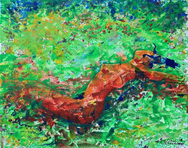 Girl in the meadow. Девушка на лугу.