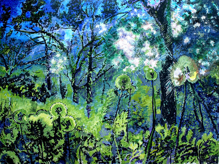 Magical forest. Волшебный лес. Акрил на холсте, 45х60 см, 2015