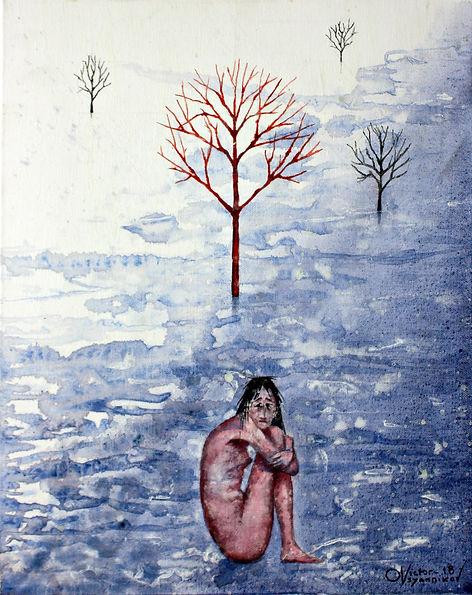 Girl in the snow. Девушка на снегу.