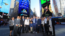 Michael Levine and Be Strong Ring the NASDAQ Stock Market Closing Bell