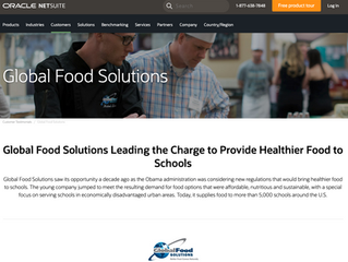 Global Food Solutions Leading the Charge to Provide Healthier Food to Schools