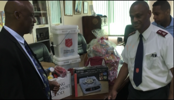 Mayor of Castries express Satisfaction with Donation and Contributions.