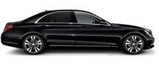 black merecedes benz s class chauffeur car