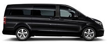 black mercedes benz v class chauffeur car