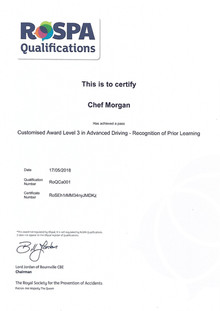 RoSPA Advanced Driver Certificate