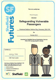 Safeguarding Vulnerable Passengers Certificate