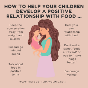 How to help your children develop a positive relationship with food