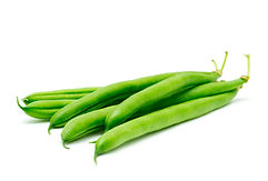 Green beans isolated on a white backgrou
