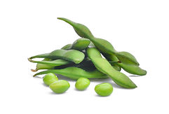 edamame green beans or soybeans isolated