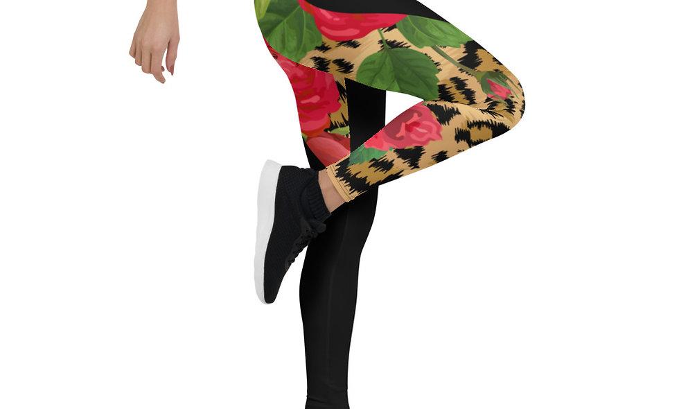 Floral Leopard Print Leggings