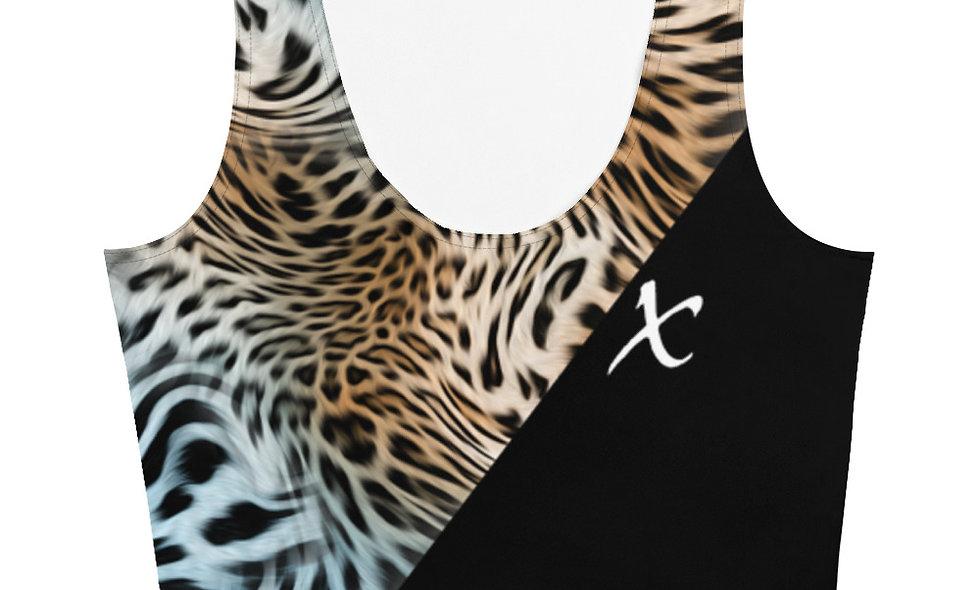 Mix Leopard Print Crop Top
