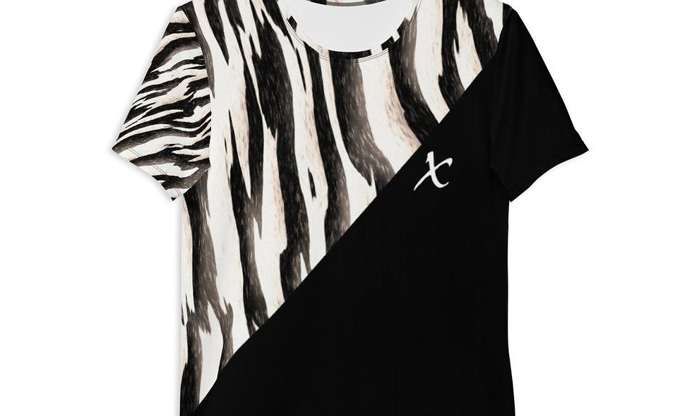 Zebra Print Athletic T-shirt