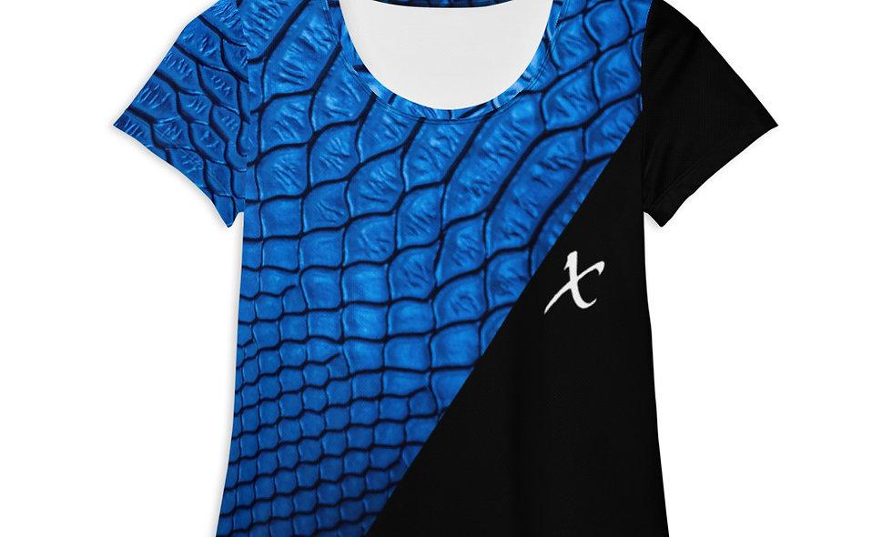 Blue Snake Skin Athletic T-shirt copy