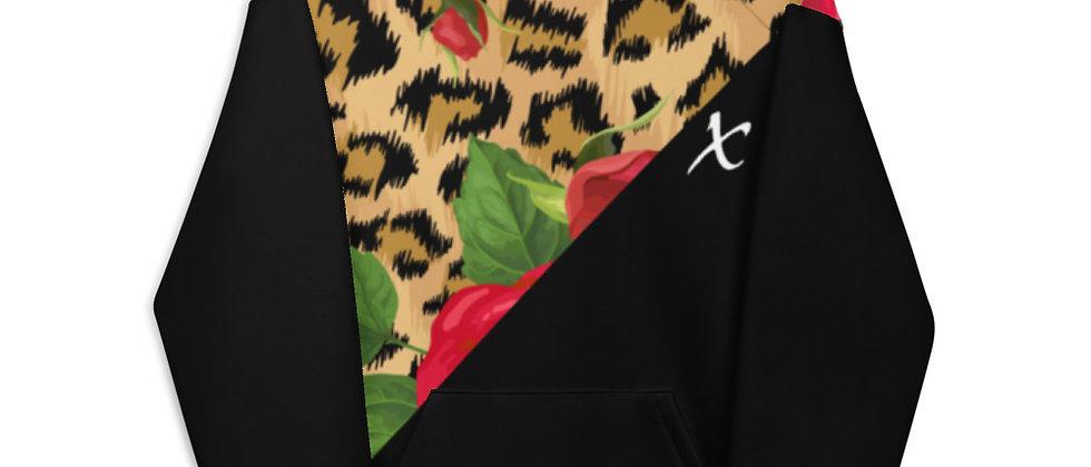 Floral Leopard Print Unisex Hoodie