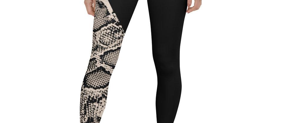 Gray Snake Skin Leggings