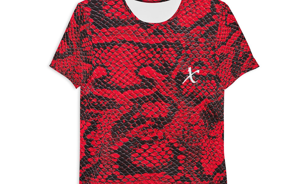 Red Snake Skin Athletic T-shirt
