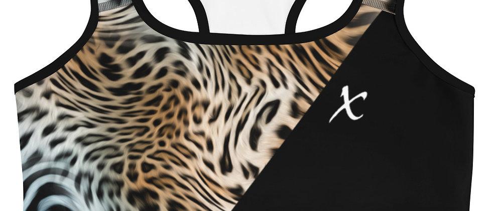 Mix Leopard Print Sports bra
