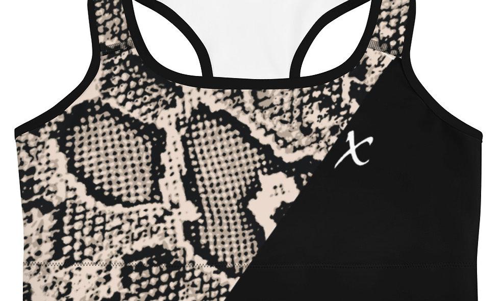 Gray Snake Skin Sports bra