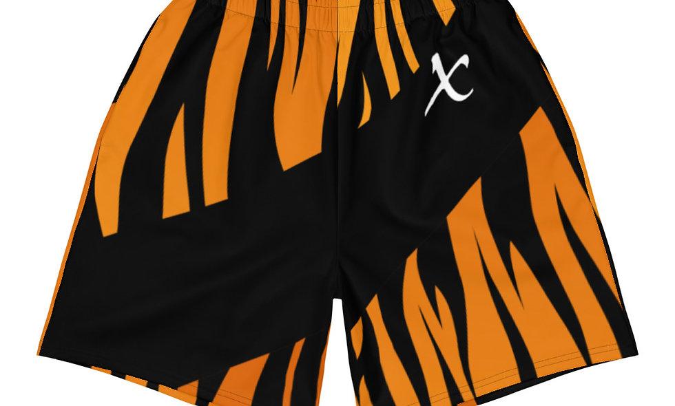 Tiger Print Long Shorts