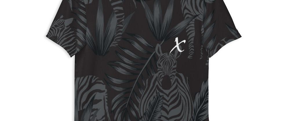Zebra Motif Athletic T-shirt