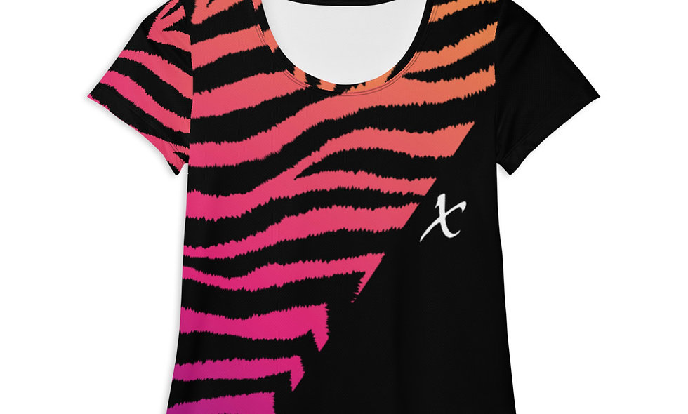 Gradient Zebra Print Athletic T-shirt