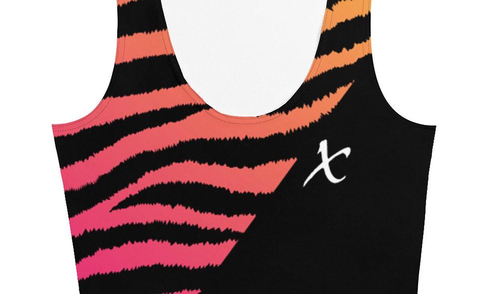 Gradient Zebra Print Crop Top