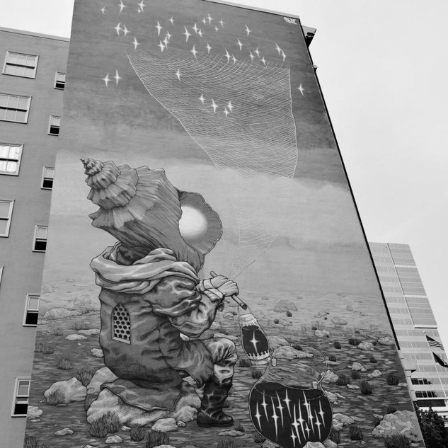 Mural near the Portland Art Museum
