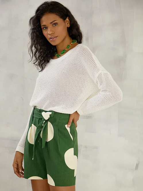 Blusa tricot ampla telada