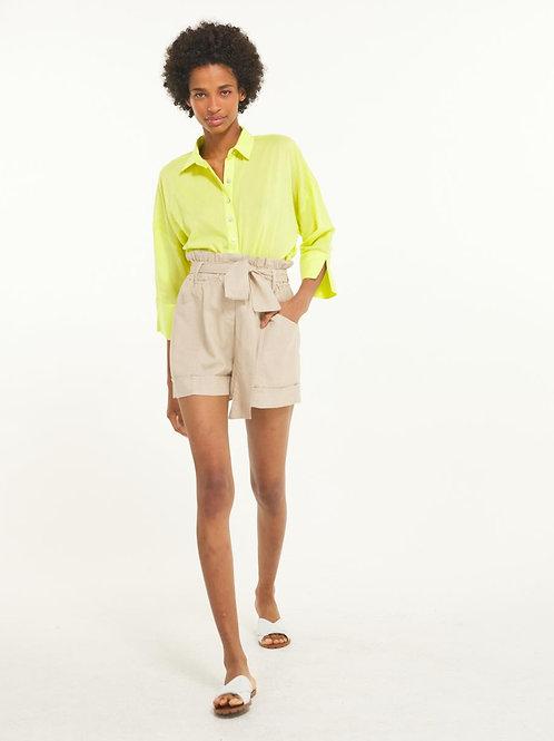 Shorts linho com faixa (natural)
