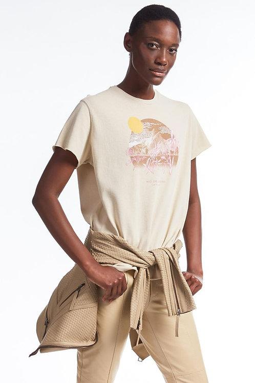 T-shirt silk  Monte Fuji bege creme