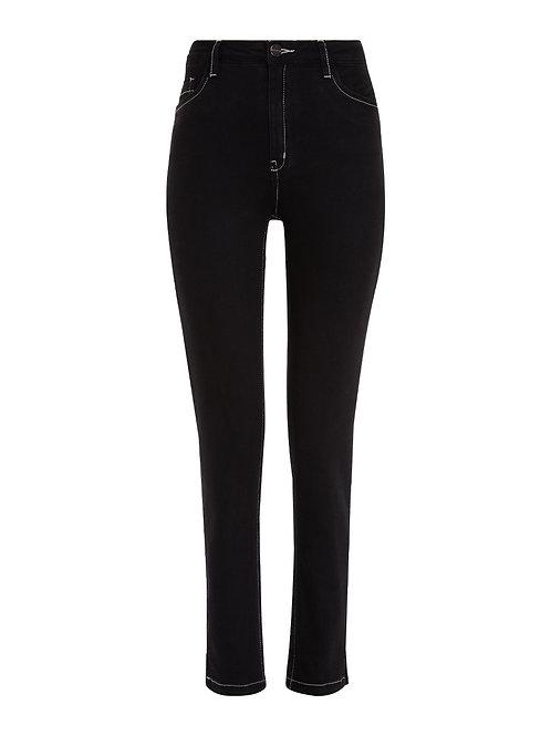 Calça Paula tradicional (jeans escuro)