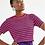 Thumbnail: T-shirt Tricot vermelha  (listrada)