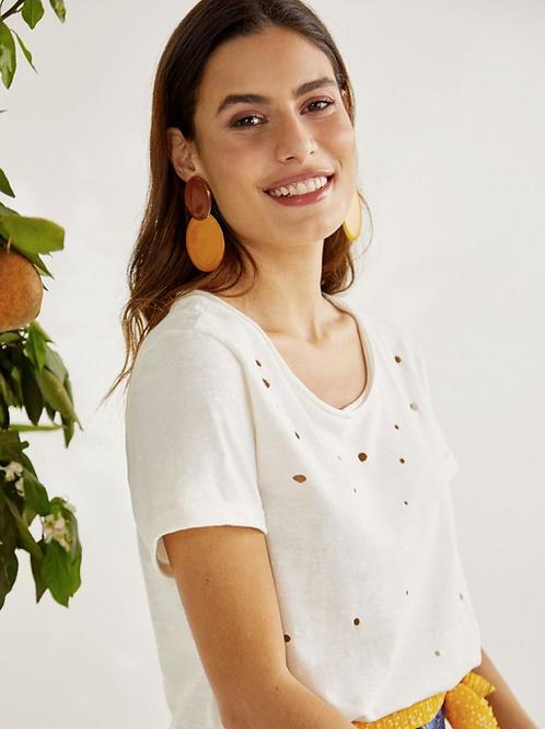 T-shirt furadinha (off white)