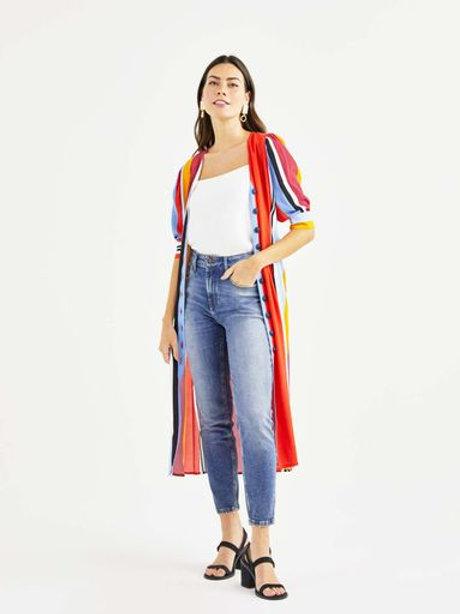 Calça jeans skinny (jeans médio)