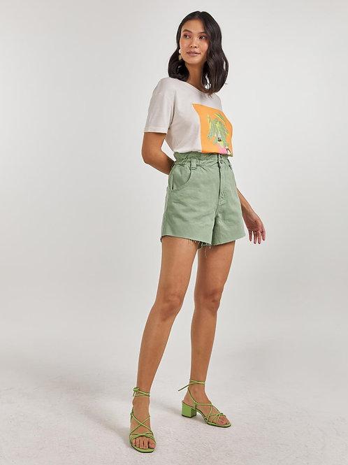Shorts  color com elastico na cintura