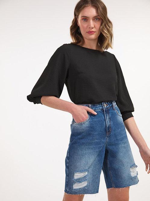 Bermuda Jeans barra a fio
