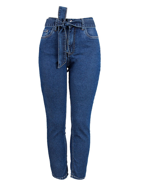 Calça Paula capri (jeans escuro)