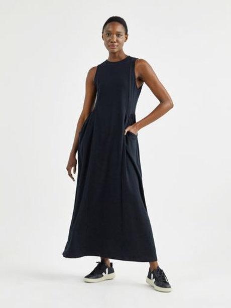 Vestido amplo recortes (preto)