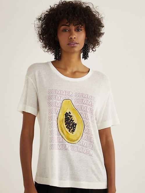 T-shirt summer papaya