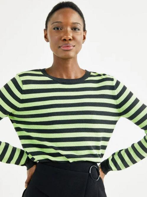 Blusa Tricot Listras Lurex (verde)