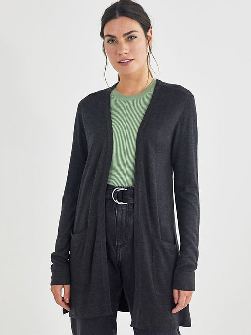 Cardigan tricot básico (mescla)